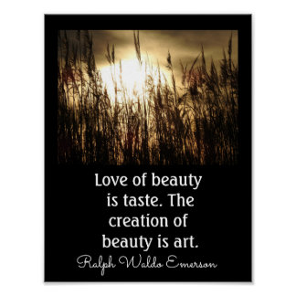 Love Of Beauty - Emerson Quote -- Art Print