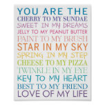 Love of my Life Poster Print