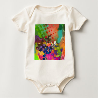 Love of Nature with multicolor background. Baby Bodysuit