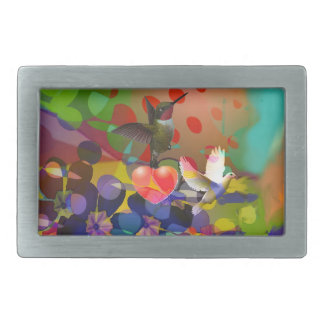 Love of Nature with multicolor background. Belt Buckle