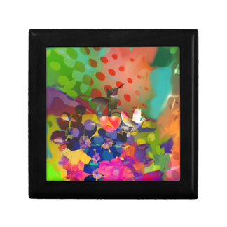 Love of Nature with multicolor background. Jewelry Boxes