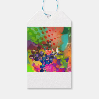 Love of Nature with multicolor background. Pack Of Gift Tags
