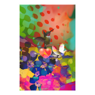 Love of Nature with multicolor background. Stationery