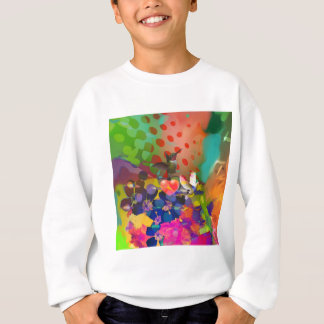 Love of Nature with multicolor background. Sweatshirt
