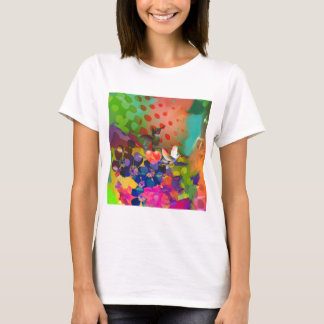 Love of Nature with multicolor background. T-Shirt