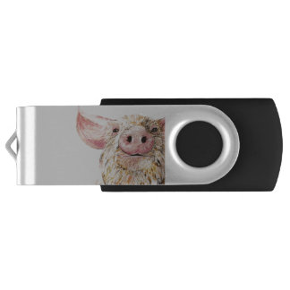 Love of pigs USB flash drive