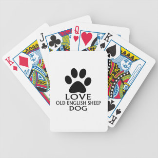 LOVE OLD ENGLISH SHEEP Dog DESIGNS Bicycle Playing Cards