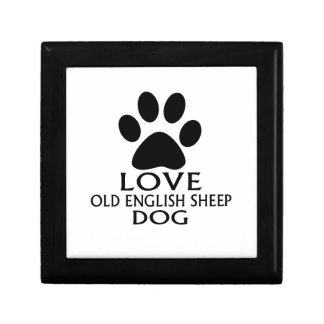 LOVE OLD ENGLISH SHEEP Dog DESIGNS Gift Box