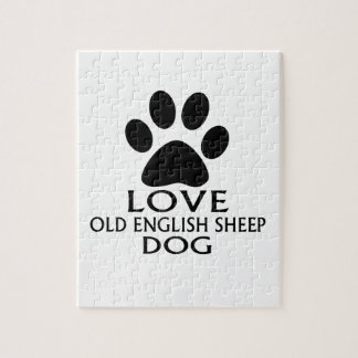 LOVE OLD ENGLISH SHEEP Dog DESIGNS Jigsaw Puzzle