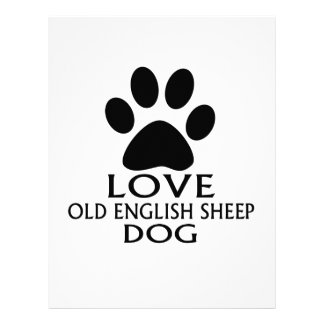 LOVE OLD ENGLISH SHEEP Dog DESIGNS Letterhead
