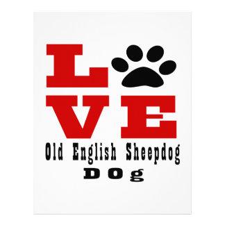 Love Old English Sheepdog Dog Designes Personalized Letterhead