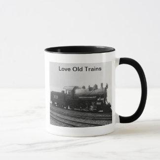 Love Old Trains Vintage Steam Engine Train Mug