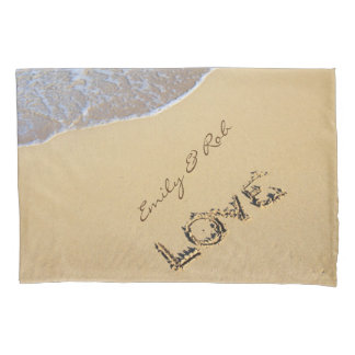 Love On A Beach Custom Pillow Case