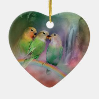 Love On A Rainbow Heart Ornament