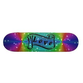 Love on rainbow with asterisks skateboard decks