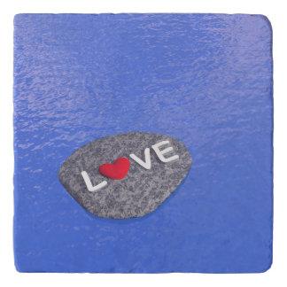 Love on stone - 3D render Trivet