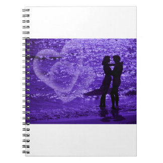 Love On The Beach Spiral Note Books