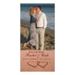 Love on the beach photo template personalized photo card
