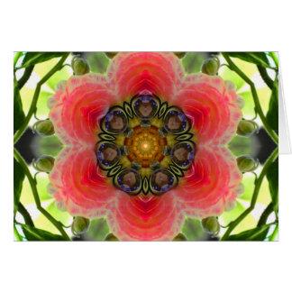 Love on the Vine Flower Mandala Card