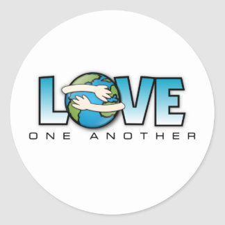 Love One Another Customize Product Classic Round Sticker
