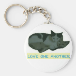 Love One Another Keychain