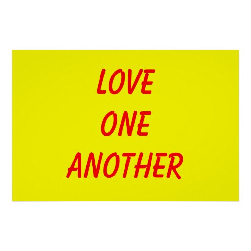 Love one another print