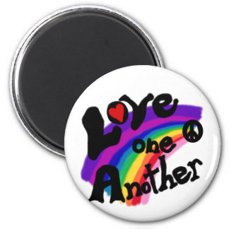 Love One Another Rainbow Magnet