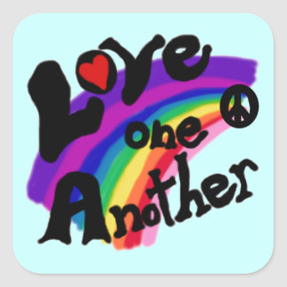 Love One Another T-shirts and Gifts Square Sticker