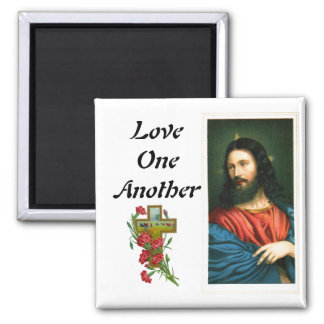 Love One Another with Jesus Christ Image Magnet