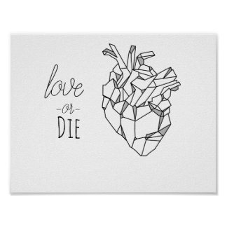 Love or die poster
