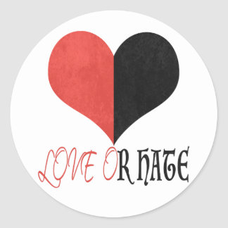 Love or Hate Classic Round Sticker