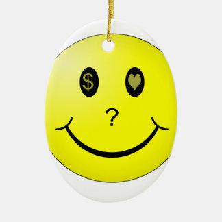 Love or Money or Love Money? Ceramic Ornament