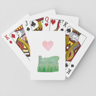 Love Oregon State Cute Heart Playing Cards
