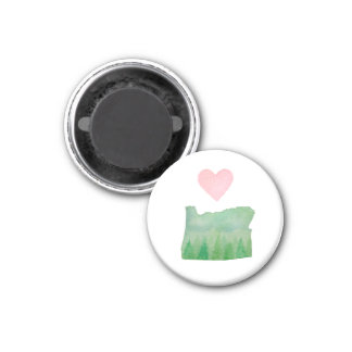 Love Oregon State Watercolor Magnet