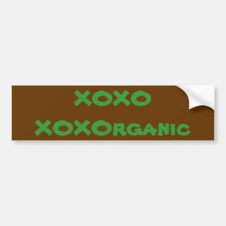 love organic bumpersticker bumper sticker