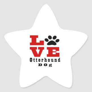 Love Otterhound Dog Designes Star Sticker
