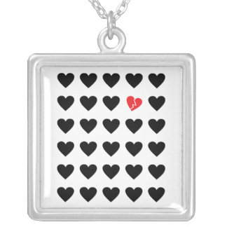 love outcast silver plated necklace