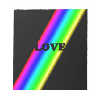 Love Over Rainbow in Black Notepads