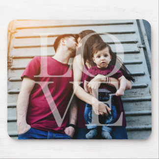 """Love"" Overlay Photo Mouse Pad"