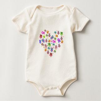 Love owls baby bodysuit
