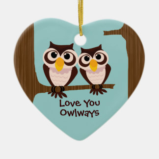 Love Owls Christmas Holiday Ornament