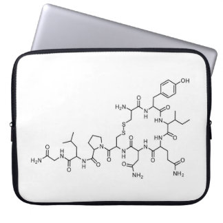 love oxytocin chemical formula chemistry element s laptop sleeve
