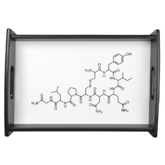 love oxytocin chemical formula chemistry element s serving tray