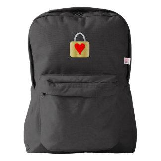 Love padlock backpack