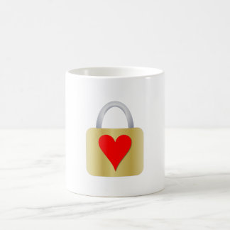 Love padlock coffee mug