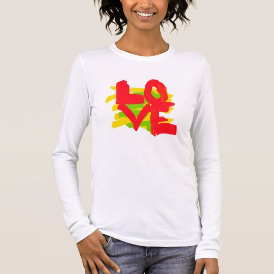 Love Paint Brushes Colourful Long Sleeve T-Shirt
