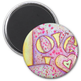 Love Painting 2 Inch Round Magnet