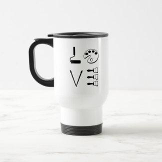 Love Painting Artist coffee travel mug