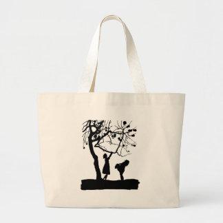 Love pair large tote bag