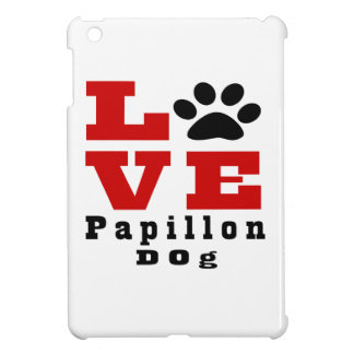 Love Papillon Dog Designes iPad Mini Cover